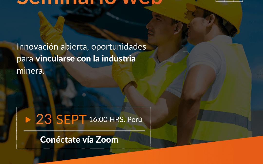 Seminario web: Oportunidades y vinculación de I+D+i con la industria minera