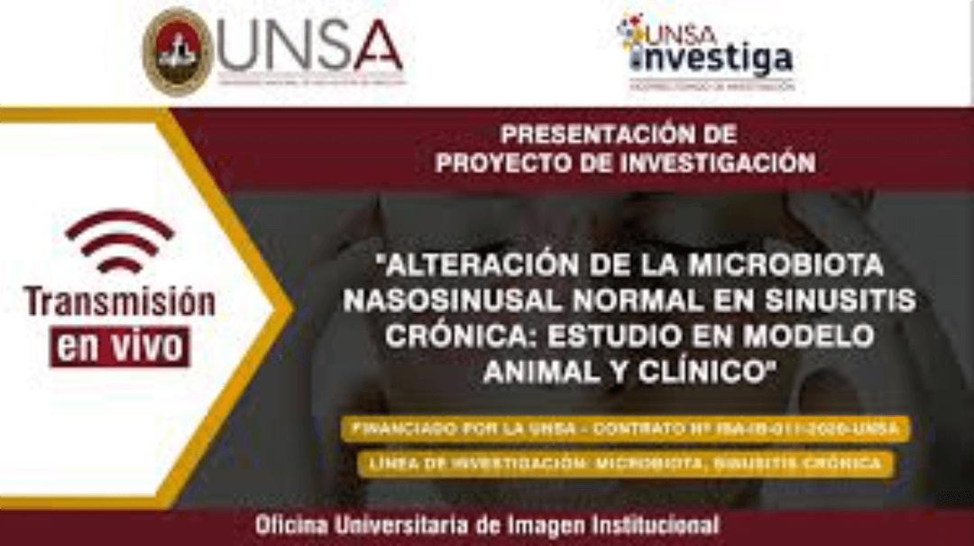 """Investigadores UNSA presentan proyecto de """"Alteración de la microbiota nasosinusal normal en sinusitis crónica"""""""