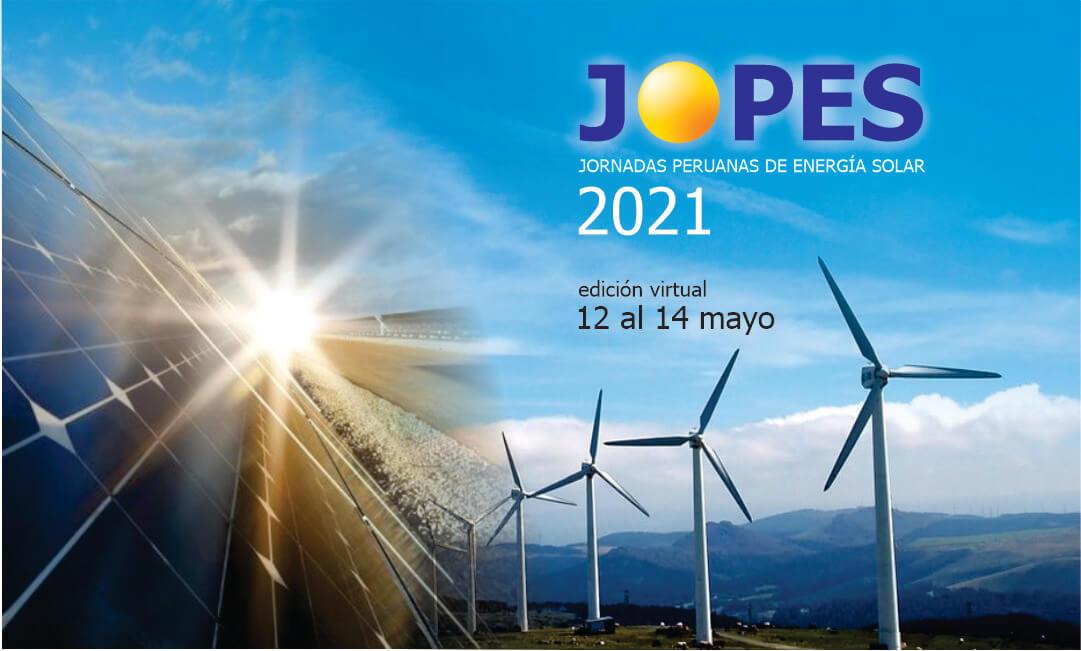 Convocan a JOPES 2021, Jornadas Peruanas de Energía Solar, a llevarse a cabo del 12 al 14 de mayo